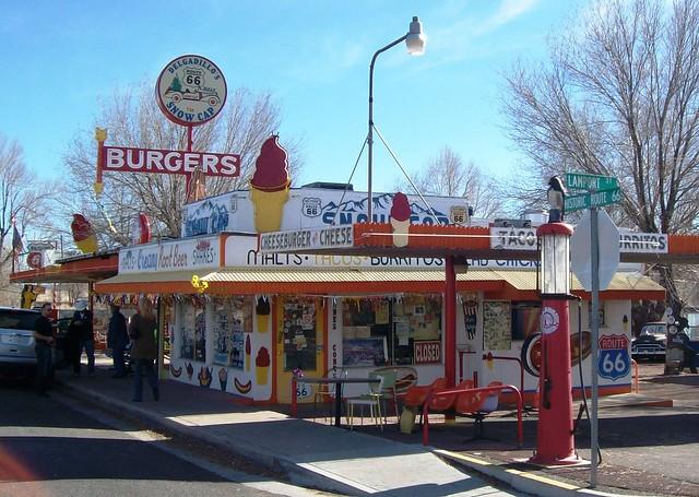 Delgadillo's Snow Cap Drive Inn, a famous stop along Arizona's historic Route 66 - highway66041