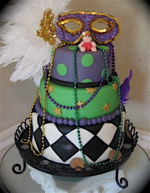 Mardigras baby shower Cake