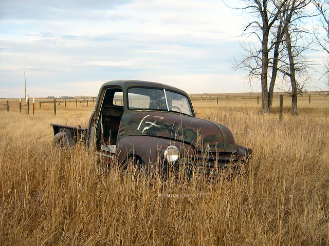 Old Rusty Chevy Trucks