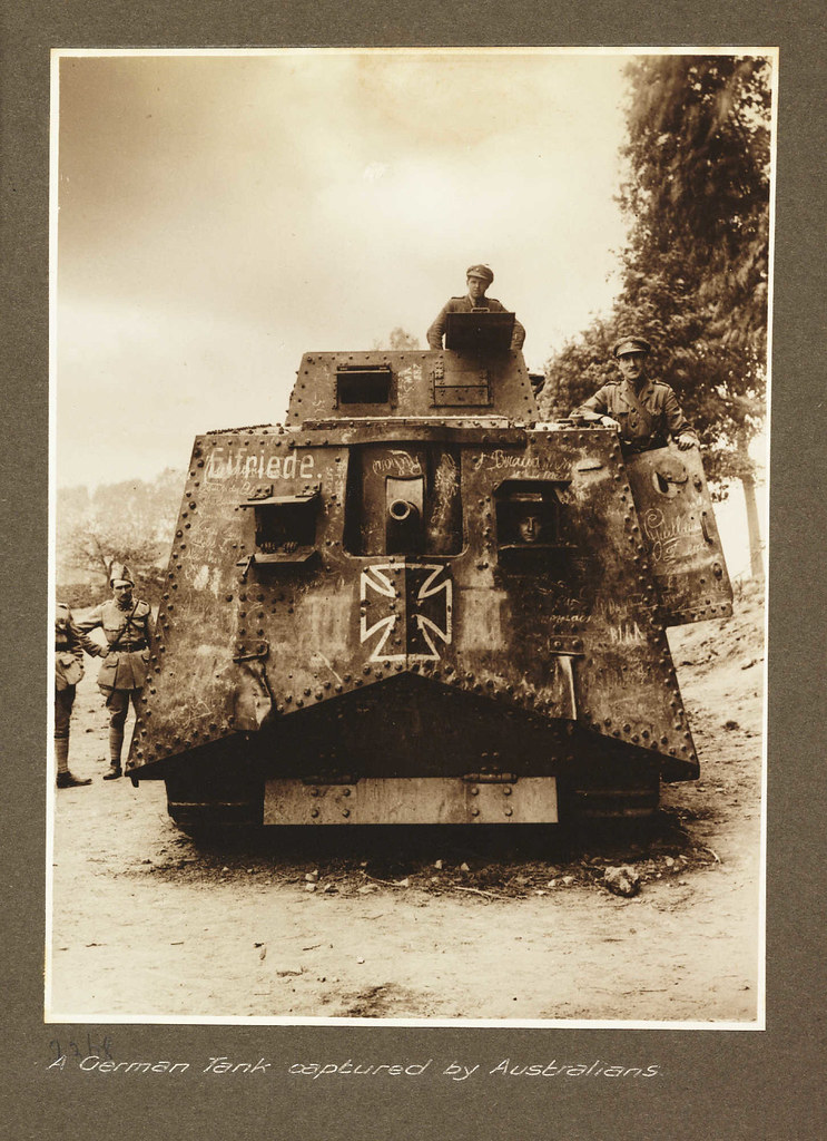 A German Tank captured by Australians