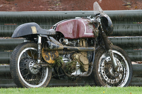 Oops ~ Got the wobbles coming over Ford hill and ...................1962 Matchless G50 500