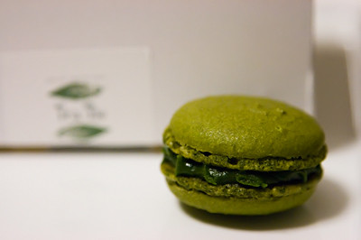 Green tea macaron | Flickr - Photo Sharing!