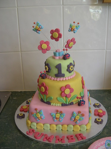 Cake Decorating For First Birthday : 1st birthday cake designs for girls Interior Design Decoration