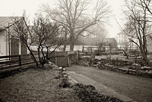the gate in black & white