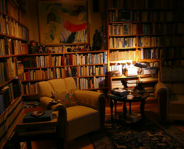 Bookshelves of Halldór Laxness