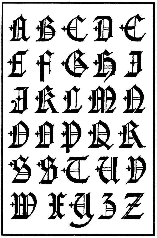 Letras capitales goticas siglo 16