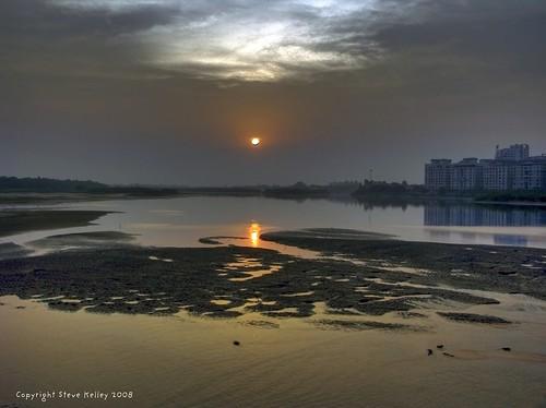 sunset india geotagged twilight nikon madras chennai hdr bayofbengal coolpix8700 mudpig stevekelley
