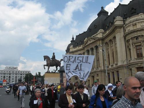 Mars de protest - 11 mai 2008 - Bucurestiul nu e mosia voastra