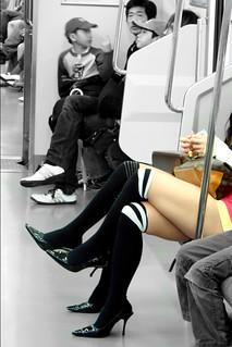 Tokyo subway legs