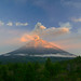 Erupting Semeru volcano at first light by volcanodiscovery
