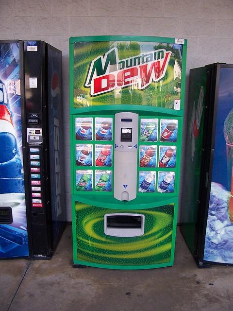 Slightly Old Mountain Dew Vending Machine