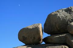 Jumbo Rocks with moon