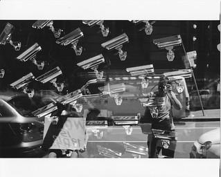 Silver Plated Surveillance Cameras