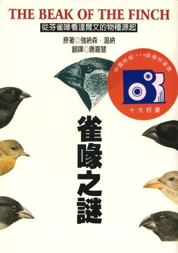 beak of the finch The beak of the finch: a story of evolution in our time ( isbn 0-679-40003-6 ) is a 1994 nonfiction book about evolutionary biology , written by jonathan weiner it.