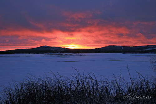 winter sunset sky lake finland photography photo lapland photooftheday kemijärvi november2008 alexdraco