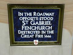 Photo of St. Gabriel Fenchurch, London blue plaque