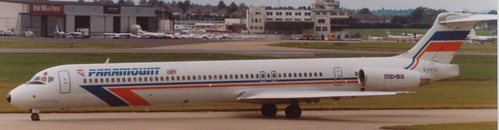 Paramount MD-83 at Birmingham Airport