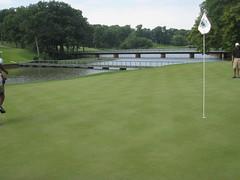 tennis court(0.0), soccer-specific stadium(0.0), baseball field(0.0), net(0.0), pitch and putt(1.0), sport venue(1.0), grass(1.0), sports(1.0), recreation(1.0), outdoor recreation(1.0), golf club(1.0), golf course(1.0), ball game(1.0), lawn(1.0),
