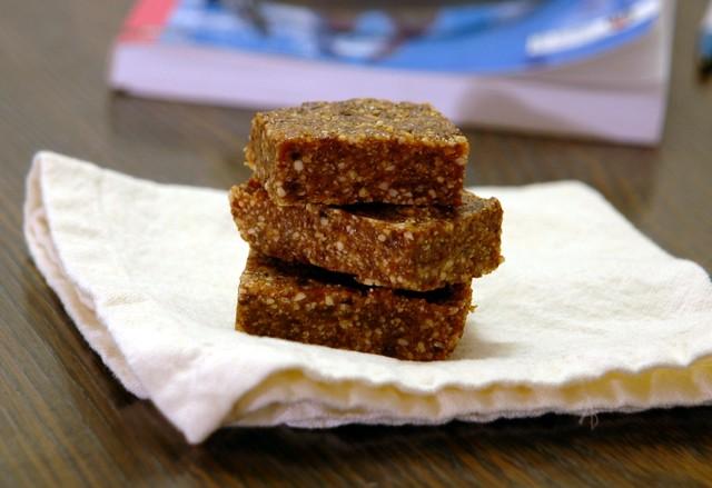peanut ginger squares