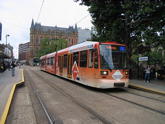 Tram 104 at Sheffield Cathedral