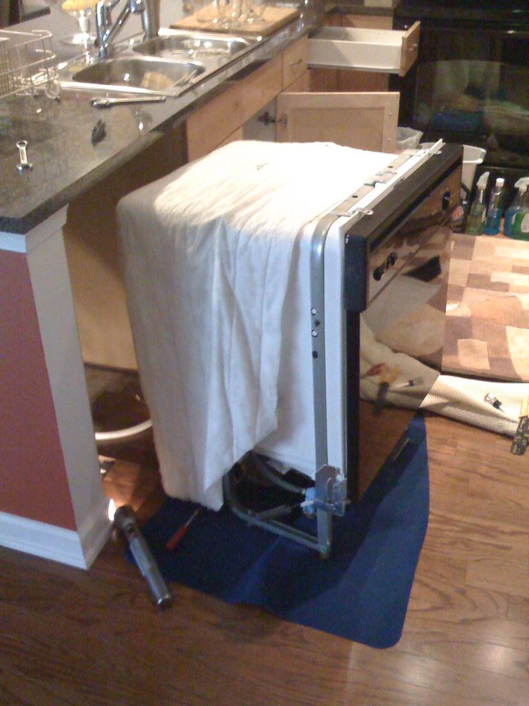 Old Ge Dishwasher Old Ge Attaching Dishwasher To