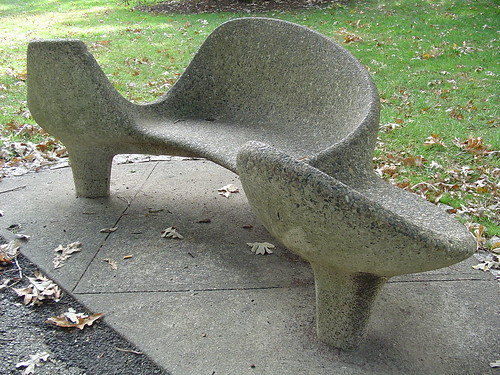 Concrete bench at the nybg, Bronx
