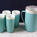 Aqua Bolero Therm-O-Ware Pitcher & Tumblers Set