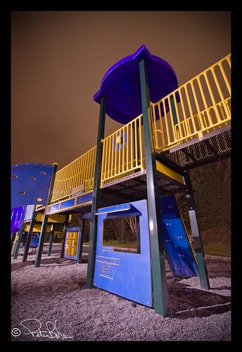 blue yellow night cornerbrook newfoundlandandlabrador westernnewfoundland margaretbowaterpark