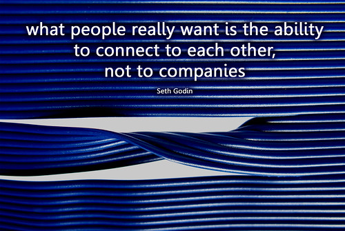 connecting to each other, not companies
