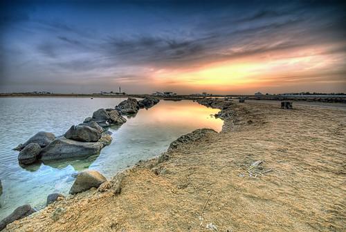 sea water sunrise landscape photography sand rocks jeddah saudiarabia khaled hdr ksa goldstaraward