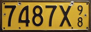 NEW ZEALAND 1998 Dealer plate