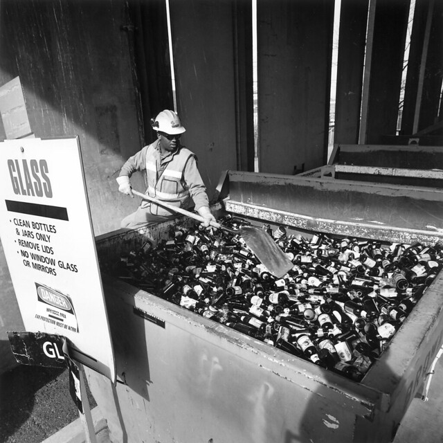 Collecting, sorting, and recycling bottles in Seattle - Seattle Municipal Archives.