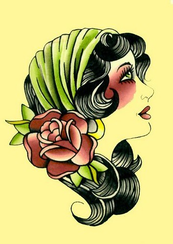 gypsy girl tattoo flash flickr photo sharing