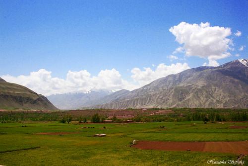 world travel blue sky afghanistan green nature beautiful clouds digital canon landscape eos rebel kiss fields zeerak xti safrang badakhshan hamesha 400d javaid badaxan