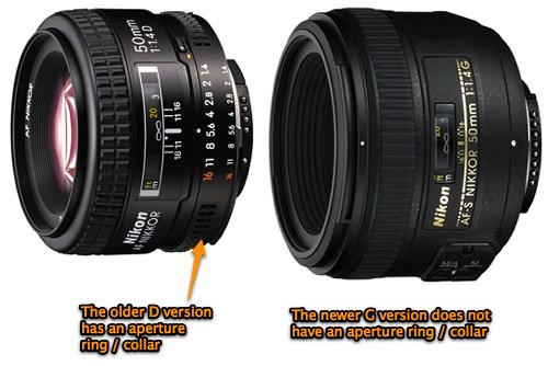 Nikkor differences: Nikon 50mm f/1.4D vs Nikon f/1.4G AF-S