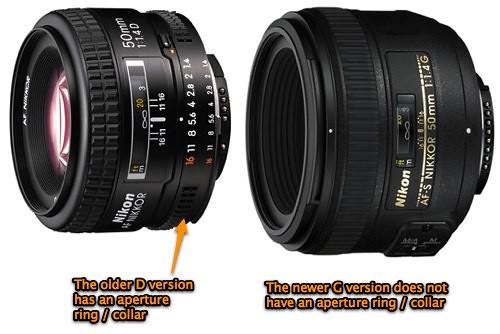 Nikkor differences: Nikon 50mm f/1.4D vs Nikon f/1.4G AF-S