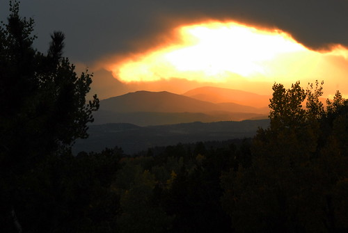 park sunset mountains pine creek rockies colorado state central cripple aspen ridgeline divide mueller