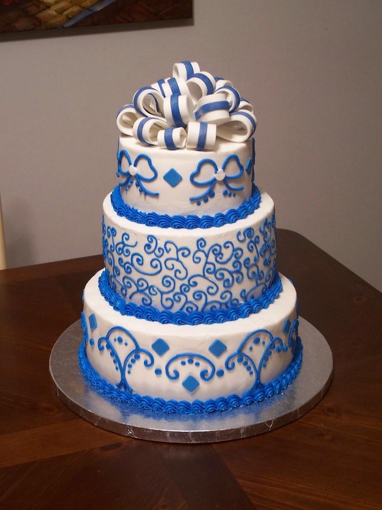 Royal Blue Wedding Cake Jennifer Flickr