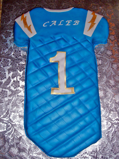San Diego Chargers Football Jersey Cake Infant Onesie