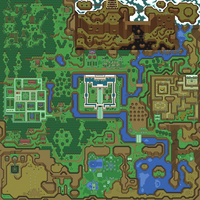 Zelda Rom Dump Map (for Desktop Backgrounds)