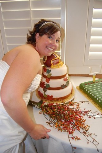 Washington Redskins Wedding Cake Toppers