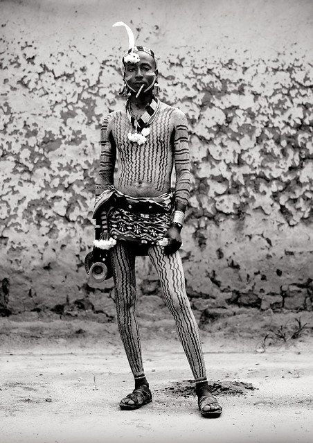 Hamar man with body painting, Turmi Ethiopia