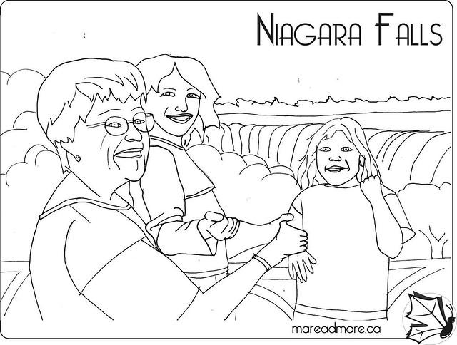 Niagara Falls Coloring Page Coloring