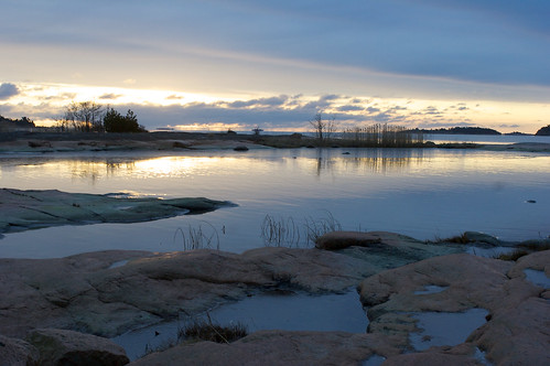 winter sunrise finland landscape calm archipelago åland
