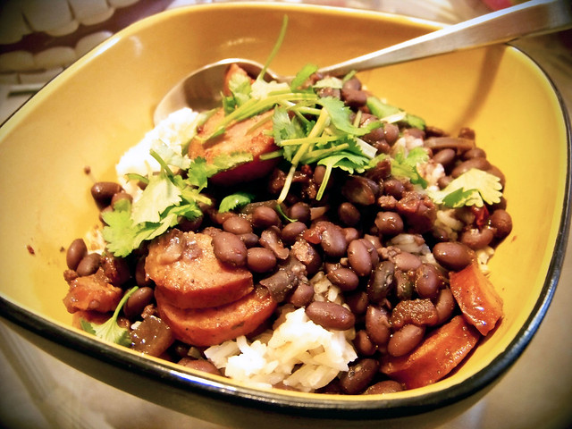 Black Beans in Adobo Sauce over Cumin Rice | Flickr - Photo Sharing!