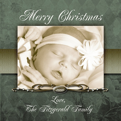 Christmas Holiday Photo Cards Photoshop Templates Volum