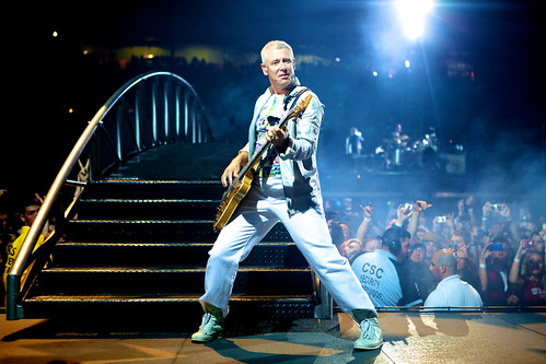 Adam Clayton of U2 at Angel Stadium, Anaheim, CA