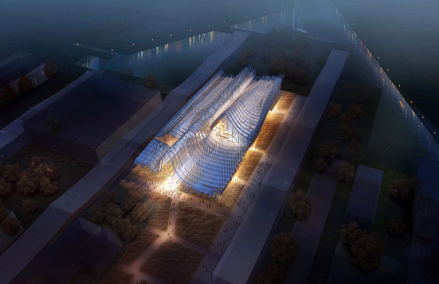 Chinese Pavilion at the 2015 Milan Expo design by Studio Link-Arc Teams with Tsinghua University