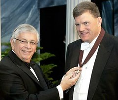 Image of Clay Bennett and former NBA Commissioner David Stern
