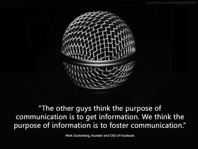 information and communication, which way round?